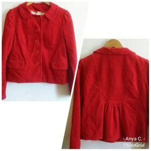 J. CREW Red Cord Vintage Style Blazer
